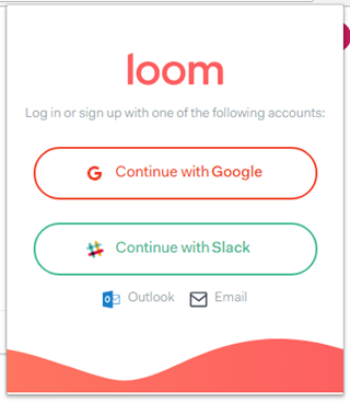 「Loom」を起動